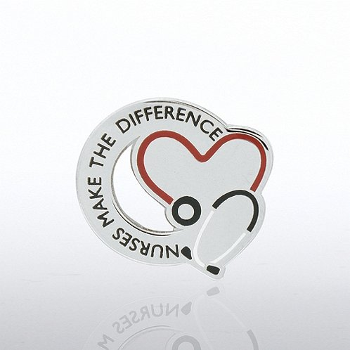 Nurses Make the Difference - Stethoscope Lapel Pin