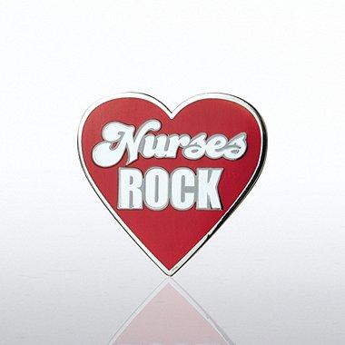 Lapel Pin - Nurses Rock