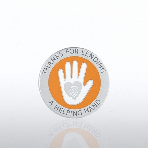 Thanks for Lending a Helping Hand Lapel Pin