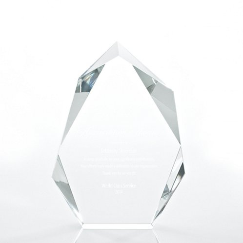 Peak Executive Beveled Crystal Trophy