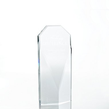 Executive Beveled Crystal Trophy - Diamond