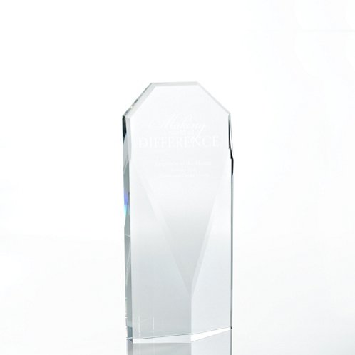 Diamond Executive Beveled Crystal Trophy