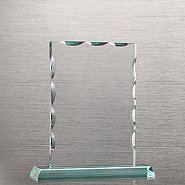 Elite Jade Trophy - Beveled Rectangle