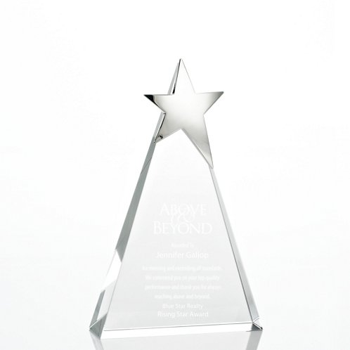 Tower Silver Star Accent Trophy