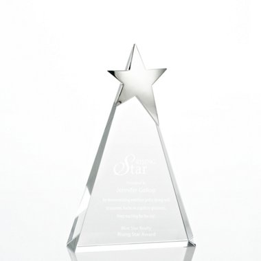 Silver Star Accent Trophy - Tower