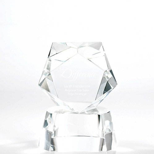 Pentagon Crystal Trophy