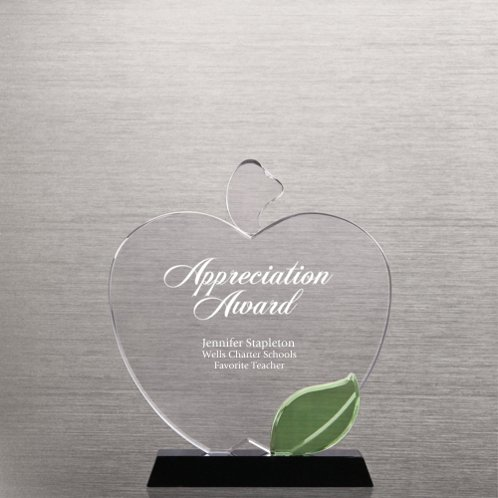 Apple Crystal Trophy