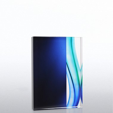 Blue Acrylic Trophy - Rectangle