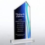 Blue Acrylic Trophy - Peak