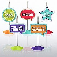 PVC Memo Clip Pack - Positive Sayings