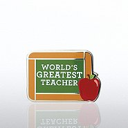 Lapel Pin - World's Greatest Teacher Chalkboard