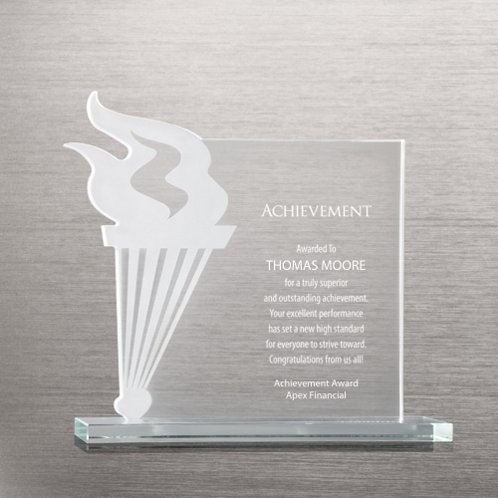 Torch Etched Glass Award