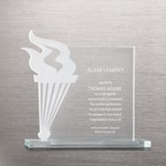 Etched Glass Award - Torch