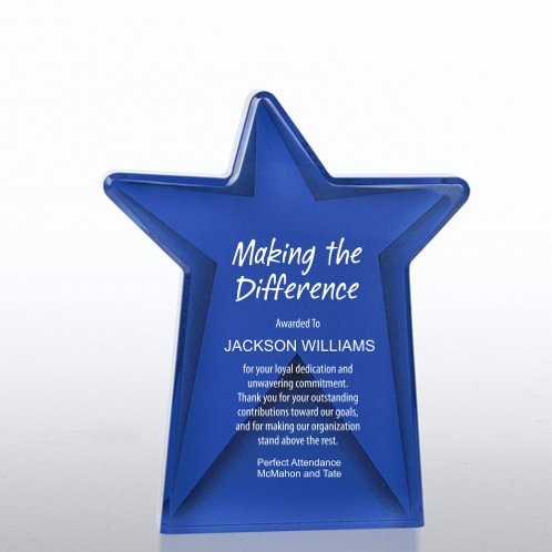 Dazzling Star Galaxy Award Trophy