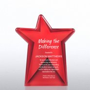 Galaxy Award Trophy - Red Dazzling Star