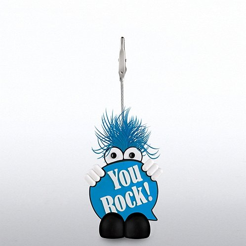 You Rock Positive Praise Goofy Guy Memo Clip Holder