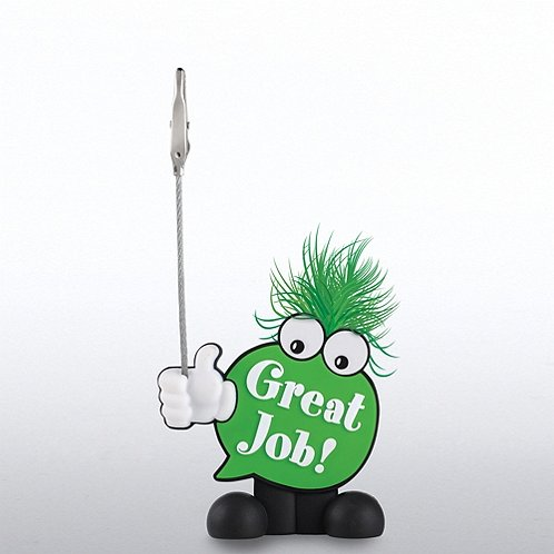 Great Job Positive Praise Goofy Guy Memo Clip Holder