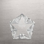Crystal Prism Star Paperweight