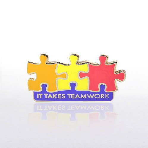 It Takes Teamwork - Multi Color Lapel Pin