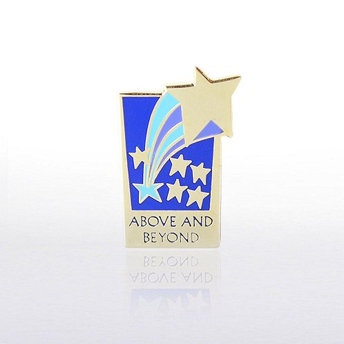 Above and Beyond Rectangle - Multi Color Lapel Pin