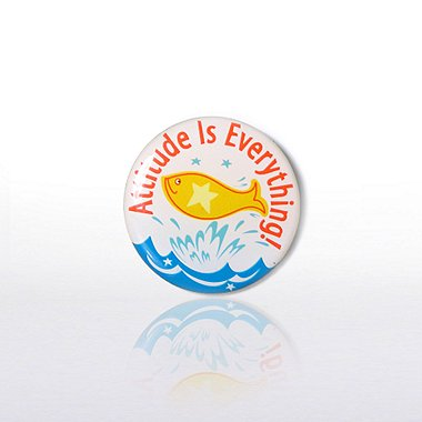 Lapel Pin - Attitude is Everything - Multi Color