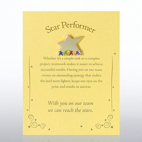 Team Star: Star Performer Character Pin