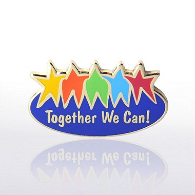 Lapel Pin - Together We Can - Multi-Color