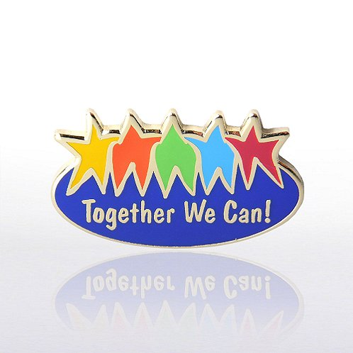Together We Can - Multi-Color Lapel Pin