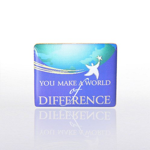 You Make a World of Difference Color Lapel Pin