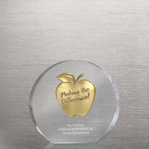 Making the Difference Apple Embedded Medallion Trophy