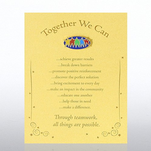 Together We Can Character Pin