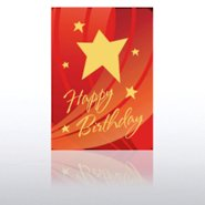 Classic Celebrations - Happy Birthday Red Swoosh & Star