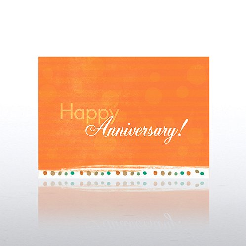 Striped Salmon w/Dots Aniversary Greeting Card