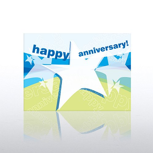 Star Banner Aniversary Greeting Card