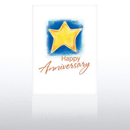 Bright Star Aniversary Greeting Card