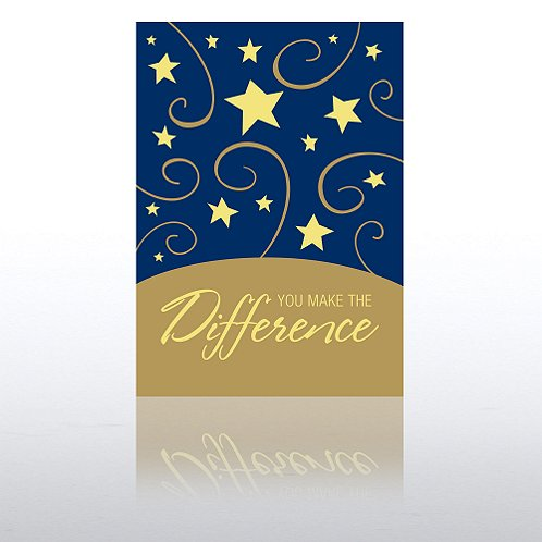 You Make the Difference Blue Gala Greeting Card