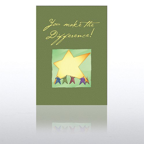 You Make the Difference Results Greeting Card