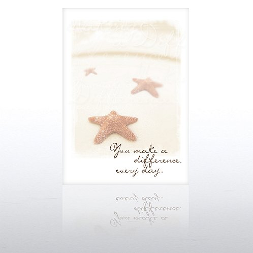 You Make a Difference Starfish Greeting Card