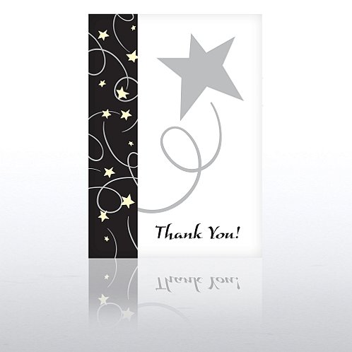Black Tie Thank You Greeting Card