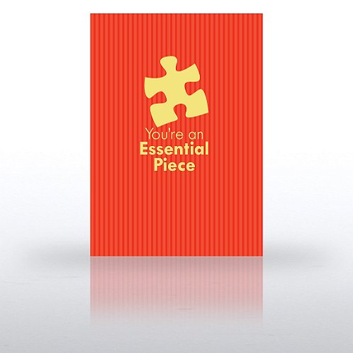 Essential Piece Red Formal Greeting Card