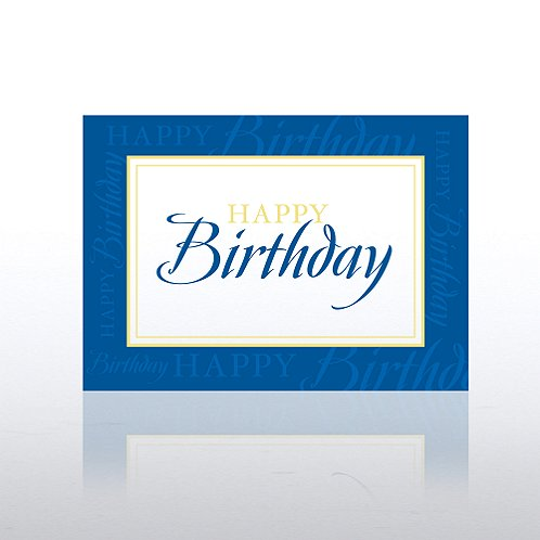 Formal Birthday Greeting Card