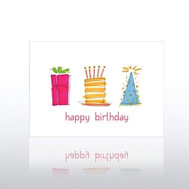 Classic Celebrations - Birthday Gift, Cake & Hat