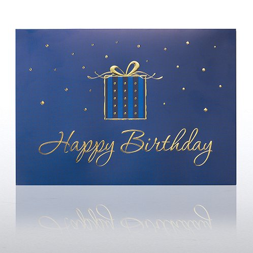 Gold Foil Gift Birthday Greeting Card
