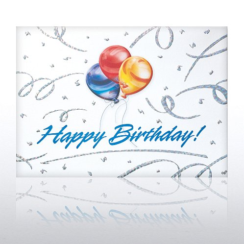 Primary Balloons Birthday Greeting Card
