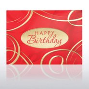 Grand Events - Birthday Red & Gold Swirls