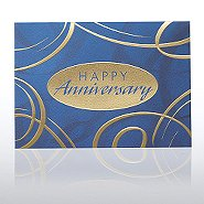 Grand Events - Anniversary Blue & Gold Swirls