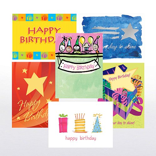 Birthday Star Greeting Card Assortment