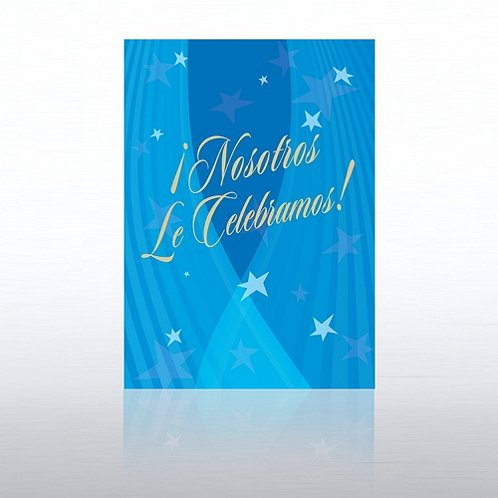 Spanish Spotlight Stars Aniversary Greeting Card