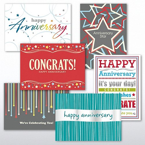 Contemporary Happy Anniversary Greeting Card Assortment
