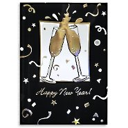 Holiday Greeting Card - Cheers! Happy New Year!